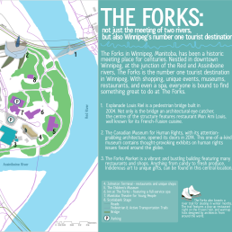 An assignment for GIS Fundamentals at Red River College. Examining tourist attractions at The Forks in Winnipeg, MB.