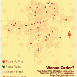 An assignment for Cartography at Red River College. Using GIS to display various pizza establishments in Winnipeg, MB.
